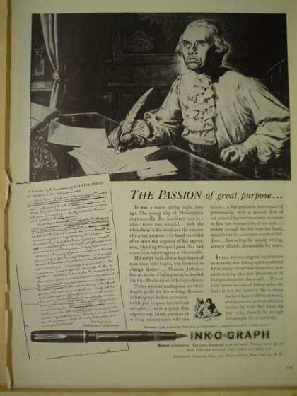 Ink O Graph Pens Inks The passion of great purpose (1943)