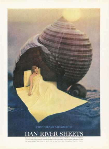 Dan River Sheets Ad What Dreams Made of Sea Shell (1961)