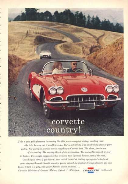 Chevy Corvette Coupe Ad Corvette Countryside (1960)