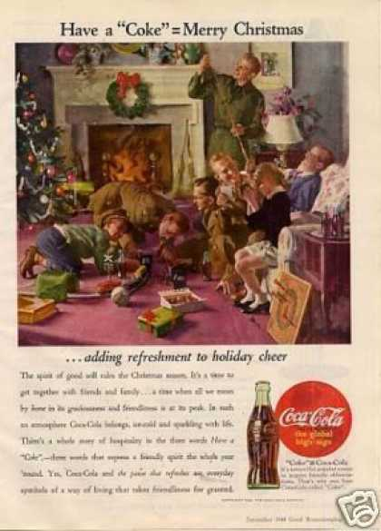 "Coca-cola Ad ""Adding Refreshment To Holiday... (1944)"