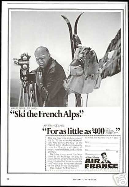 Warren Miller Ski Alps Air France Airlines (1966)