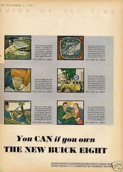 Buick Car Color Ad Centerfold (1932)