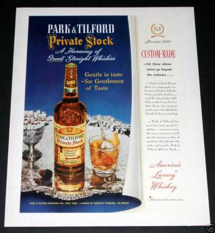 Park & Tilford Private Stock Rye (1951)