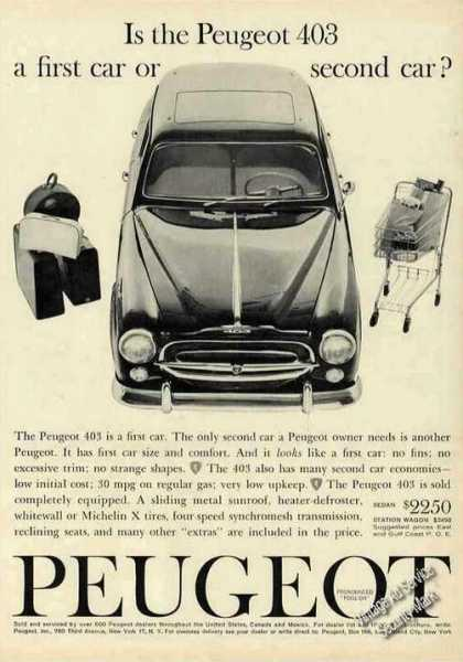 "Peugeot 403 ""First Car or Second Car"" (1961)"