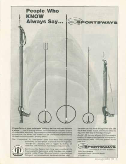 Sportsways Spearfishing Spear Gun Scuba Diver (1970)