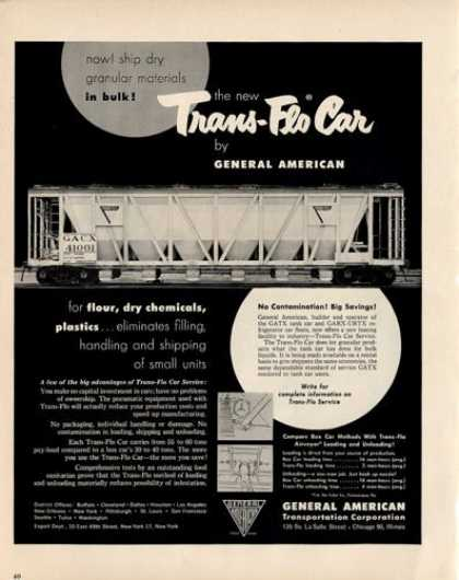 Train Trans Flo Car General American (1950)