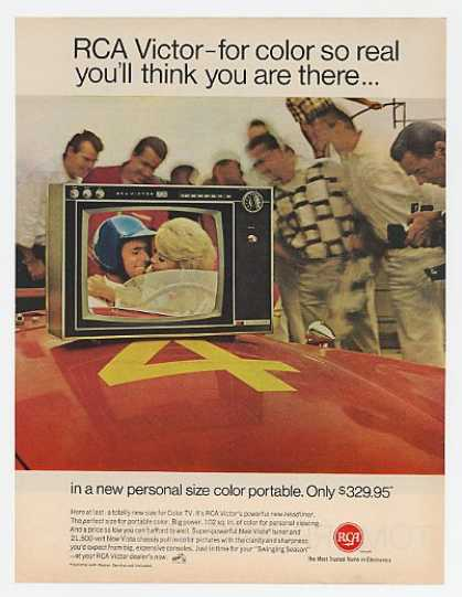 RCA Victor Headliner Portable Color TV Race Car (1967)