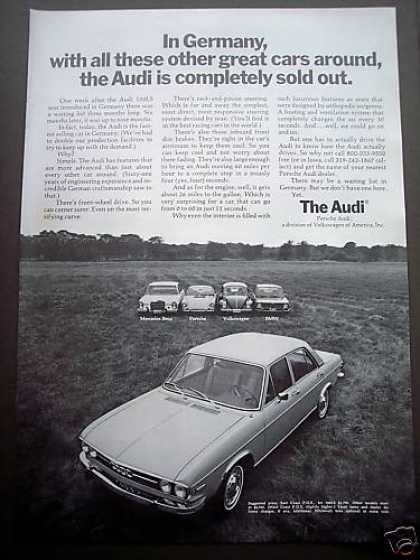Audi Cars Sold Out In Germany (1970)