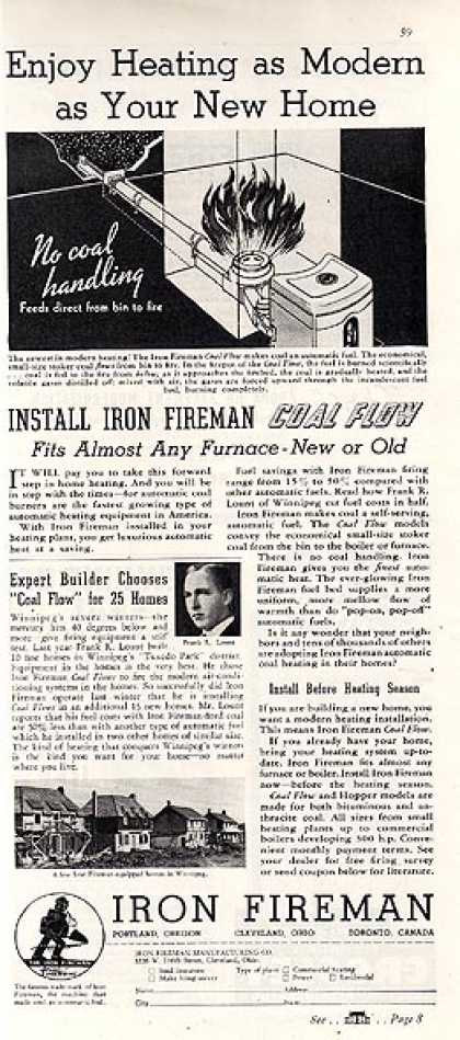 Iron Fireman's Coal Flow System (1937)