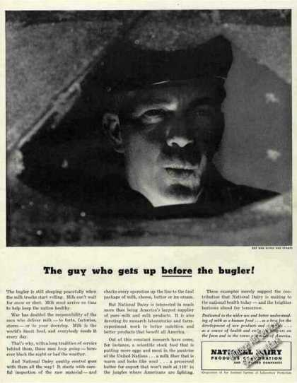 """Guy Gets Up Before the Bugler!"" Milkman Dairy (1943)"