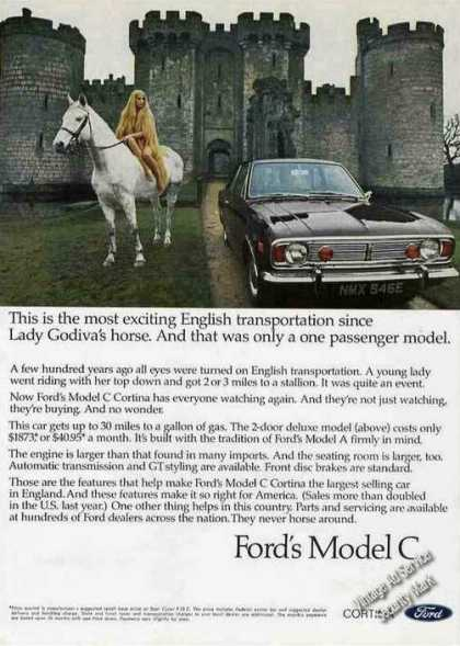 Ford Model C Cortina Lady Godiva & Castle Car (1968)