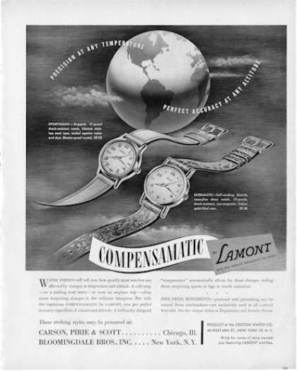Lamont Details Compensamatic Watch (1950)