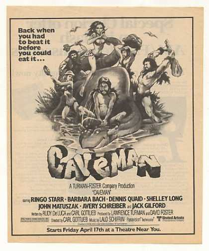 Ringo Starr Caveman Movie (1981)