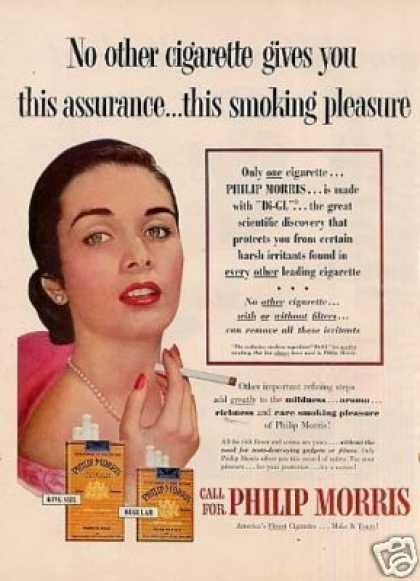 "Philip Morris Cigarettes Ad ""No Other Cigarette... (1954)"