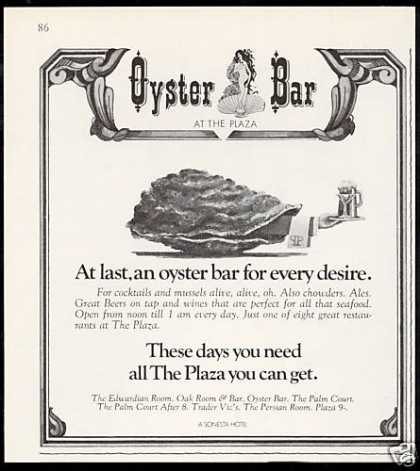 Oyster Bar Restaurant Plaza Hotel New York (1970)
