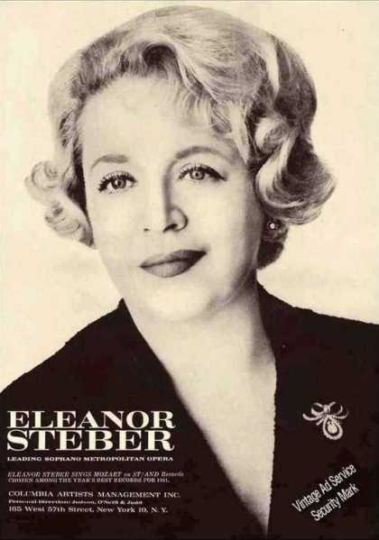Nice Eleanor Steber Photo Collectible Opera (1962)