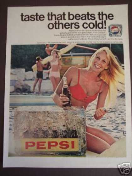 Bikini Girl Pepsi Cola Soda Photo (1968)