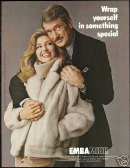 Emba Mink Fur Rock Hudson Photo Vintage (1982)