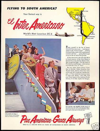 Panagra Pan American Grace Airways Airline DC-6 (1952)