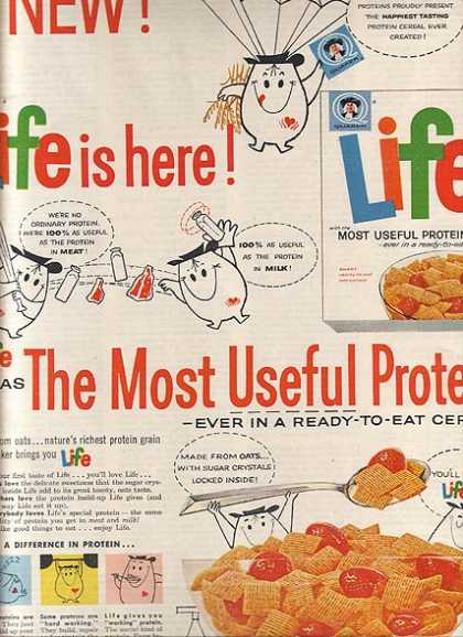 Quaker's Life Breakfast Cereal (1962)