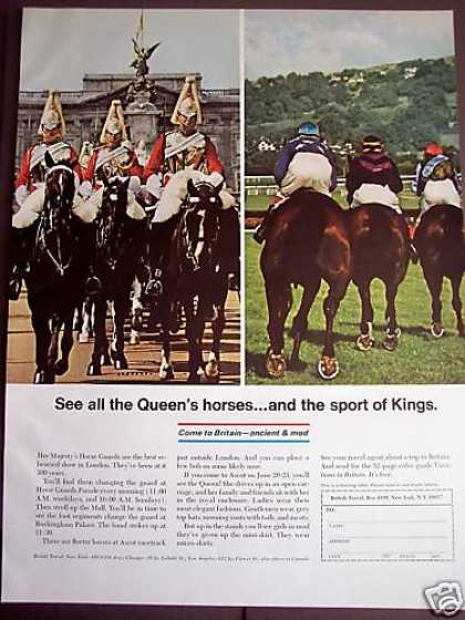 Horses Sport of Kings Photo Britain Travel (1967)
