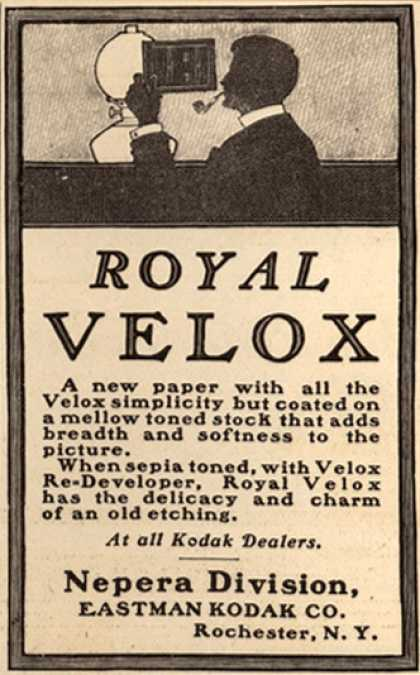 Kodak's Royal Velox Film Paper – Royal Velox (1907)
