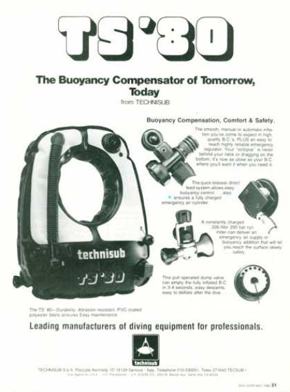 Technisub Buoyancy Compensator (1980)