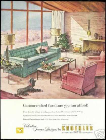 Black Poodle Dog Kroehler Furniture (1954)