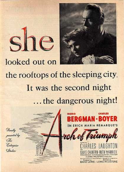 Arch of Triumph (Ingrid Bergman and Charles Boyer) (1947)