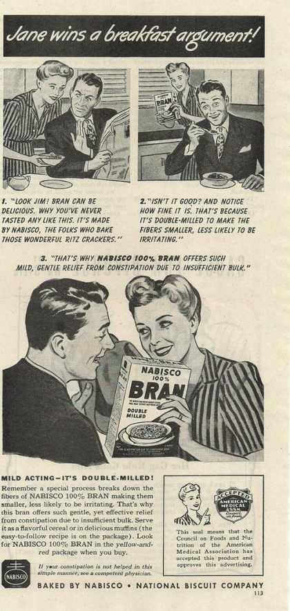 Nabisco Bran Double Milled Cereal (1944)