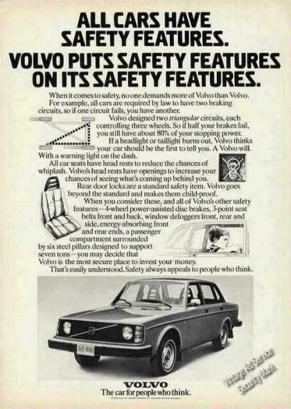 Volvo Puts Safety Features On Safety Features (1975)