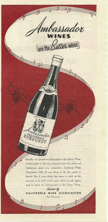 Ambassador Wines Are the Better Wines Prin (1944)