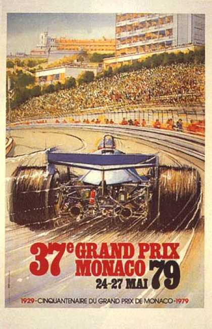 Monaco Grand Prix by Geo Ham (1979)