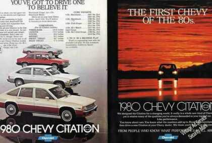 Chevrolet Citation 8 Pg. Magazine (1980)