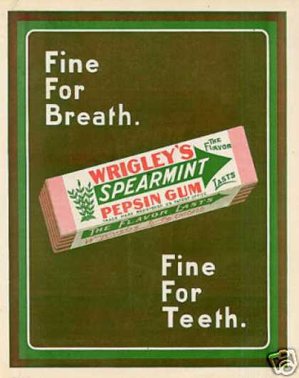 Wrigley's Spearmint Chewing Gum Color (1910)
