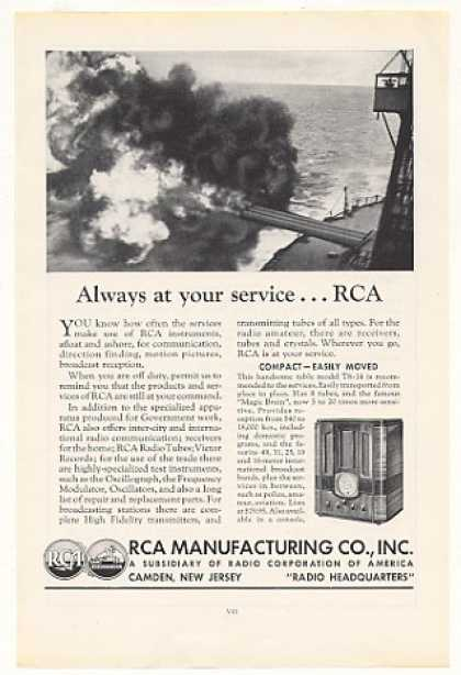RCA Model T8-14 Table Radio Navy Ship Gun (1935)