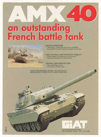 GIAT AMX 40 French Battle Tank Photo (1987)