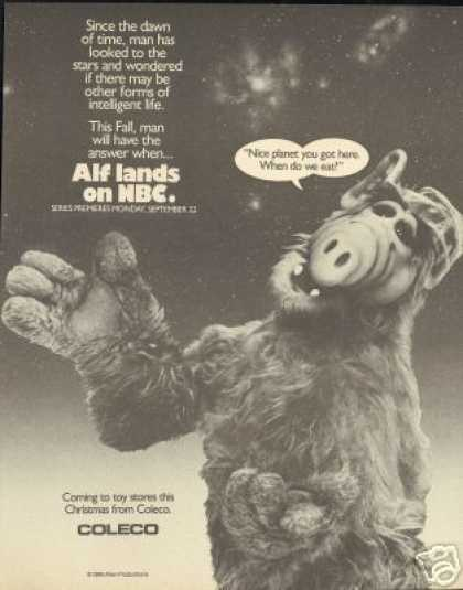 Alf Photo Coleco Toy NBC TV Program (1986)