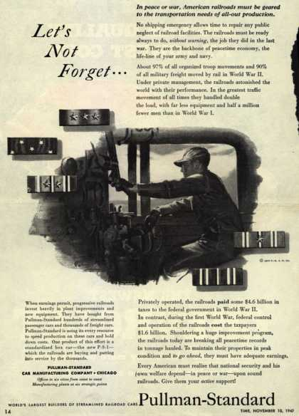 Pullman-Standard Car Manufacturing Company – Let's Not Forget... (1947)