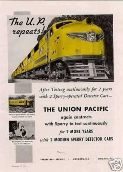 Sperry Ad Union Pacific City of Los Angeles/la-1 (1941)