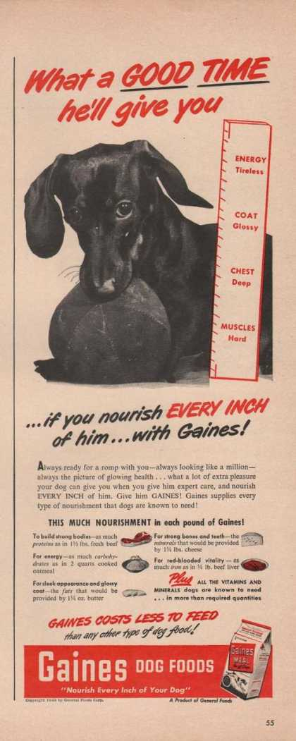 Gaines Dog Food Good Time (1949)