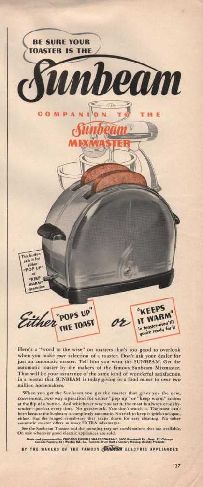 Be Sure Your Toaster Is the Sunbeam (1941)