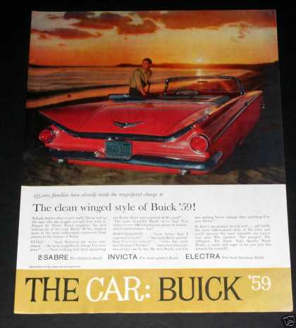 Buick, Electra, Clean Winged Style (1959)