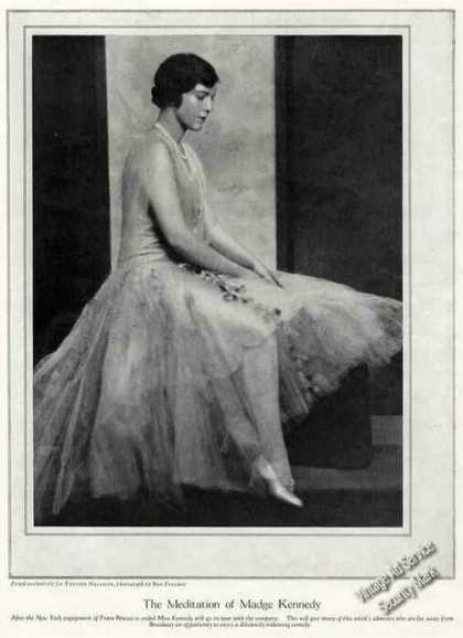 """""""The Meditation of Madge Kennedy"""" Photo Feature (1928)"""