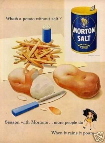 Morton Salt Ad Potatoes (1952)