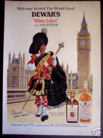 Dewar's Scotch White Label, Ancestor Highlander (1968)