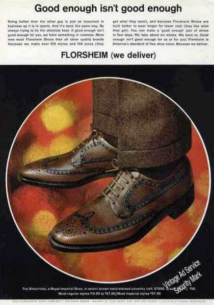 "Florsheim ""Stratford"" Royal Imperial Mens Shoe (1967)"