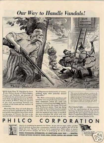 "Wwii Philco Ad ""Our Way To Handle Vandals"" (1942)"