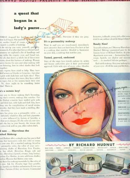 Marvelous Makeup Keyed To Color Art Deco (1936)