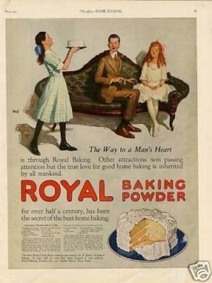 "Royal Baking Powder Color Ad ""The Way To a Man's.. (1921)"